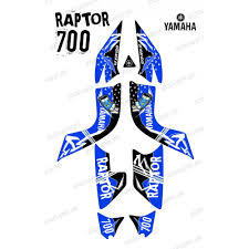 kit decoration blue idgrafix yamaha 700 raptor idgrafix