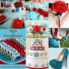Red And Turquoise Wedding Colors