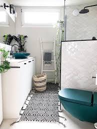 badezimmer kleinesbad modernboho fliesenl