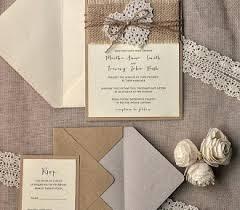 Diy Rustic Burlap Wedding Invitations 55 Chic And Lace Ideas