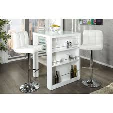 table de bar blanc laque spitpod