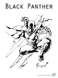 Marvel Black Panther Coloring Pages Movie Free Printable With Page Inside Animal Pag