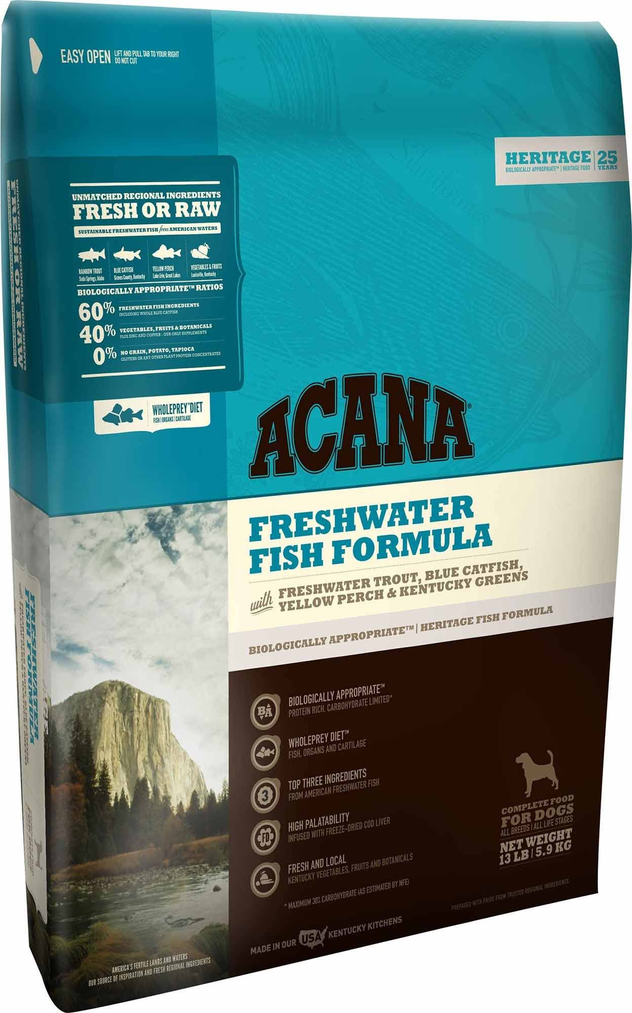ACANA Freshwater Fish Heritage Dog Food 12 oz