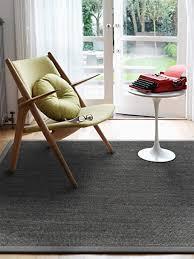 benuta sisal teppich mit bordüre grau 160x230 cm naturfaserteppich für flur und wohnzimmer