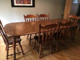 ER Buck Solid Maple Dining Room Table Chairs