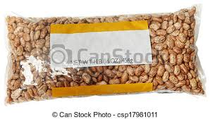 One Pound Blank Label Bag Of Pinto Beans Stock Photo