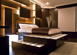 wall lighting decor and custom level bed frame with two tones
