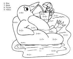 Numbers Math Coloring Pages Free 2nd Grade Pdf Printable Full Size