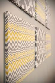Any Color Or Pattern Fabric Over Canvases Easy Wall Art For Room Design Love This Idea