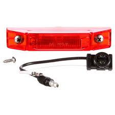100 Truck Lite LED Model 35 MarkerClearance Light Kit Red Diamond