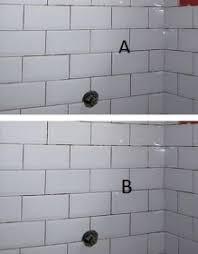 inside corner and subway brick pattern tile tiling ceramics