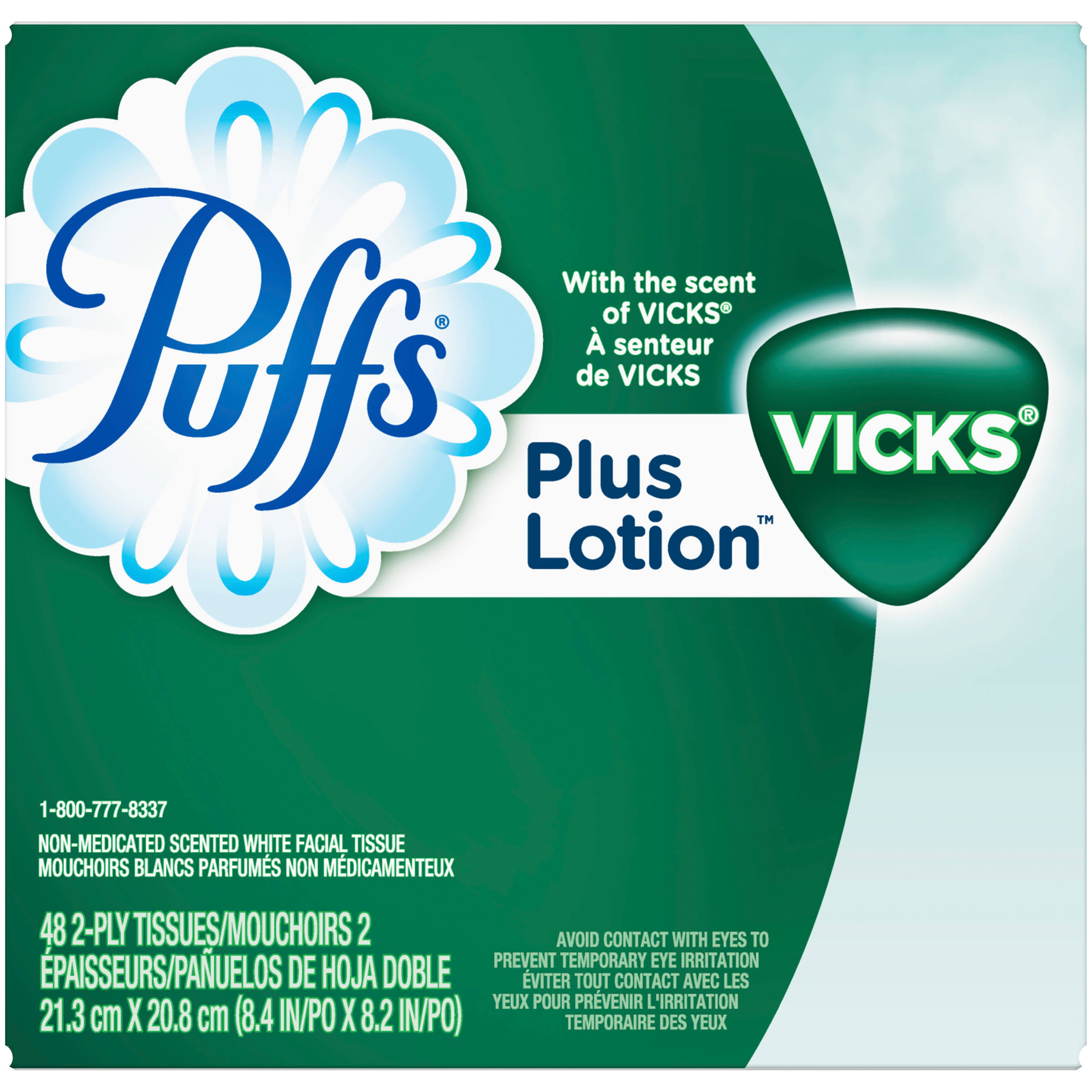 Puffs Plus Lotion Facial Tissues - with The Scent of Vicks, 48 Count