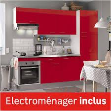 electromenager cuisine cuisine équipée brillant l 240 cm électroménager inclus
