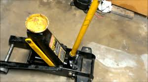 how to fix a leaking floor jack youtube