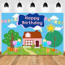 100 Tree House Studio Wood Colorful Photo Background 7x5ft Cartoon Children Kids Photo Booth Props Vinyl Baby Shower Supplies Boys Girls Happy 3rd Birthday