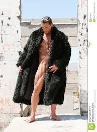 man in fur coat stock image image 2258041