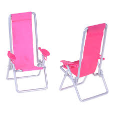 US $1.8 16% OFF|Miniature 1:12 Scale Hot Pink Foldable Plastic Beach Chair  Deck Mini Garden Lawn Furniture For Doll BJDBlythe Accessories-in Dolls ...