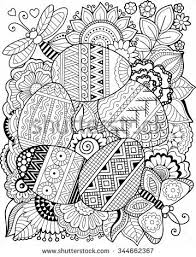 Vector Coloring Book For Adult