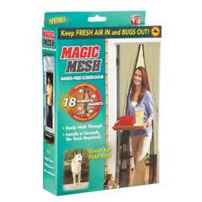 Magnetic Curtain Rod Walmart Canada by Magic Mesh Hands Free Magnetic Screen Door Canadian Tire