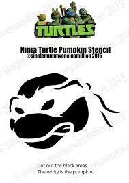 Pumpkin Carving Stencils 2015 by Single Mummy One In A Million Ninja Turtle Pumpkin Stencil