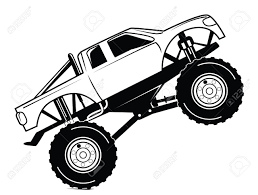 Monster Truck Clip Art Unique Truck Outline Drawing At Getdrawings ...