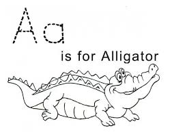 Letter A Is For Alligator Free Printable Coloring Sheet