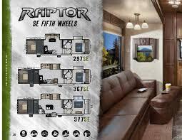 Raptor 5th Wheel Toy Hauler Floor Plans by Keystone Raptor 2013 Brochure