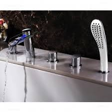 Wall Mounted Led Waterfall Faucet by Wall Mounted Led Waterfall Tub Filler Faucet