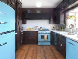 KitchenSmall Kitchen With Island Rustic Blue After Small