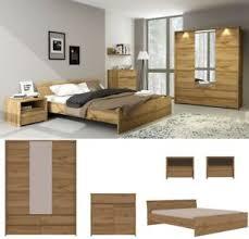 details zu schlafzimmer komplett forest set a bett 200 x 160 180 schrank 3t kommode 2 nakos