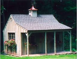 Tin Shed Highland Il by Lamore Post And Beam Buildings 12x16 Shed With Porch Deerfield