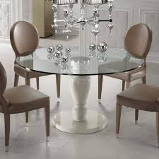 Designer Round Glass Dining Table Rooms Remarkable And ...