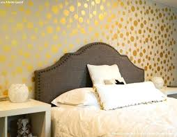 Gold Bedroom Paint Wallpaper Wall Stencils Ideas For Metallic Home Decor Crown