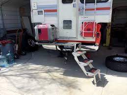 Hitch Mounted Camper Step And Generator Mount - YouTube
