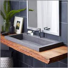 Trough Bathroom Sink With Two Faucets Canada by Trough Bathroom Sink With Two Faucets Canada Bathroom Home