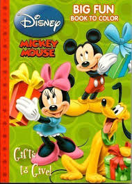 Mickey Mouse Christmas Big Fun Book To Color By Dalmatian Press LLC 098