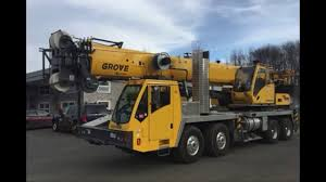 110 TON Grove - Hydraulic Truck Mounted Crane - YouTube