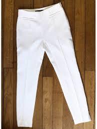 louise paris balenciaga white cotton pique slim fit capri pants