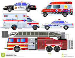 Emergency Transport Icons Set. Vector Set, Isolated Stock Vector ...