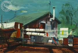 Little Shipyard Westport 1967 art by Har Gramatky