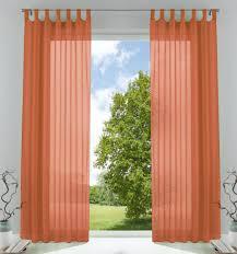 2er pack gardinen transparent vorhang set wohnzimmer voile schlaufenschal mit bleibandabschluß hxb 245x140 cm terrakotta 61000cn