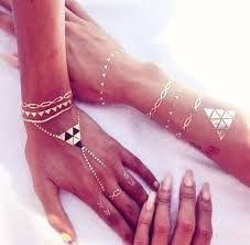 Rouelle ELLEtatts Metallic Tattoos Flash Gold By