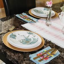Cynthia Floral Sky Blue Melamine Dinnerware Pier 1 Imports Art