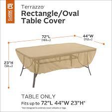 Amazon Classic Accessories Terrazzo Rectangular Oval Patio