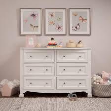 Munire Dresser With Hutch by White Dresser For Nursery Wood Nursery Dresser 6 Drawers W Top