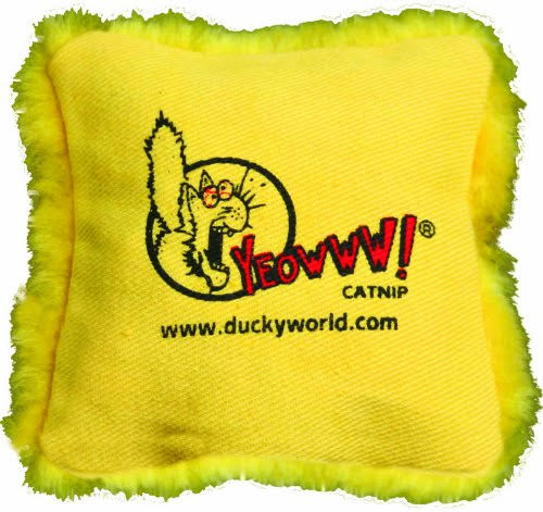 Yeowww! Catnip Pillows - Yellow