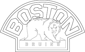 Boston Bruins Current Logo Clipart Nice Coloring Page