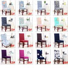 26 STyles Chair Cover Removable Washable Stretch Slipcovers Dining Room Seat Protector For Banquet Wedding Party HH7 1214