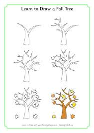 learn to draw a fall tree 460 0