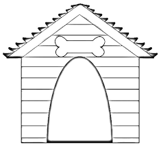 Dog House Coloring Pages 3 Drawing